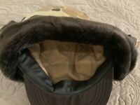 Cabelas Hunting Cap Camouflage with Earflaps, Thinsulate, fur lined, size small