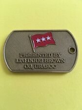 REAL Challenge Coin CG US Army Special Operations Command USASOC LTG Doug Brown