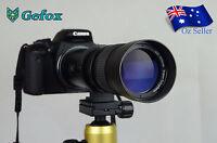 420-800mm f/8.3 - 16 Super Telephoto Zoom Camera Lens for Nikon Canon +T Mount
