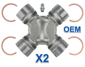 2 Universal Joint ACDELCO Pro Greasable Replace GMC OEM # 12479126