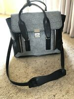 3.1 Phillip Lim Pashli bag medium, Black/grey , RRP $1499
