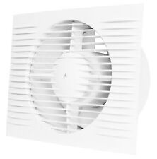White Bathroom Extractor Fan 150mm with Humidity Sensor & Timer Ventilator D150H