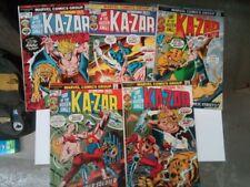 ASTONISHING TALES issues #16-20(Marvel,1973)KA-ZAR!