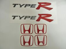 Honda Civic EP3 Type R OEM Red x 2 Side Panel + Centre Cap Stickers - DARK CARS