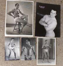5 photos de culturistes / lutteurs vers 1950 - Gay