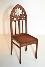 chair for Dolls 1/6 1:6 furniture Barbie FR wooden stylish handwork Gothic style