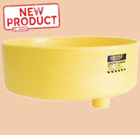 "7"" Barrel Drum Funnel High Density Polyethylene High Spill Containment 18"" Wide"