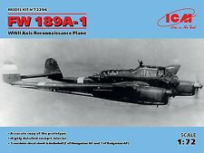 ICM 1/72 Fw-189A-1 WWII Axis Reconnaissance Plane # 72294