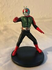 """Kamen rider 2 masked rider with stand 1998 preowned 5.5"""" with box Banpresto"""