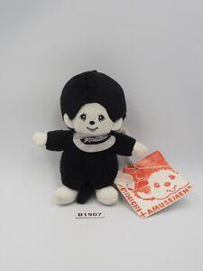 """Monchhichi B1907 Monkeys Black White Sekiguchi mascot Plush 5"""" TAG Toy Doll"""