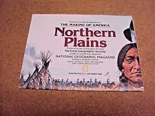 National Geographic December 1986 Map The Making of America Northern Plains