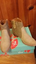 'yuu' boots for womens size 6.Pride camel color.  leather  . Retail price  $69.9