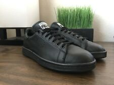 Raf Simons adidas Stan Smith Triple All Black Leather Sneakers Shoes Size 9 US