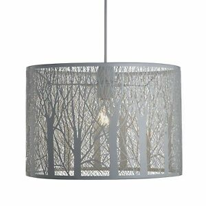 38cm Forest Effect Easy Fit Metal Shade in White Taupe