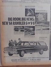 1963 newspaper ad for Rambler - '64 Classic 770 Cross Country Wagon, interiors