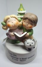 "1983 Enesco Figurine 'Dear God, Christmas is really something to sing about."" 6"""
