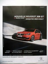 PUBLICITE-ADVERTISING :  PEUGEOT 308 GTi  2015 Voitures