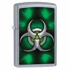 Zippo Windproof Biohazard Green Lighter,  # 28853, New In Box