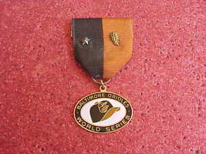 1969 Baltimore Orioles World Series Press Media Pin CHARM