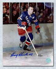 Harry Howell New York Rangers Autographed Original 6 Hockey Game 8x10 Photo
