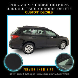 For 2015-2019 Subaru Outback Precut Window Chrome Delete Blackout - Matte Black