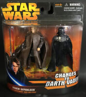 Star Wars Revenge of the Sith Anakin Skywalker Changes to Darth Vader figure set