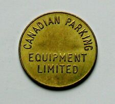 Canadian Parking Equipment Brass Token GOOD FOR PARKING ONLY - AU+ toned-lustre