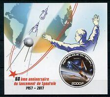 Benin 2017 MNH Sputnik 1 Launch 60th Anniv 1v S/S Space Stamps