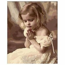 Diy Oil Painting by Numbers, Paint by Number Kits - Pray Girl 16*20 inches V8P1