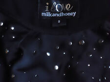 MILK & HONEY BlkRacerBackStuddedFountainFrillMini Sz8