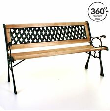 70%OFF Marko Outdoor Wooden 3 Seater Cross Rose Garden Bench Park Seat With  Cast