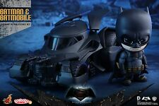 Hot Toys Batman and Batmobile Cosbaby set :batman v superman dawn of justice