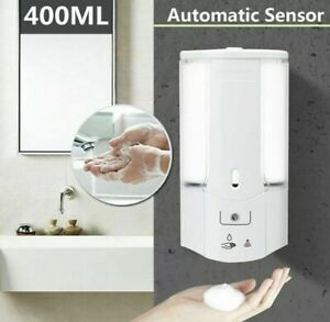 Automatic Soap Dispenser 400ml Wall Mounted Hands Free Sensor Gel Shampoo 073