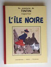 TINTIN L ILE NOIRE FAC SIMILE N&B BD EO 1987 / HERGE / CASTERMAN