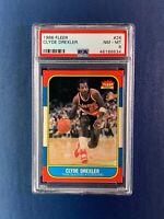 1986-87 Fleer Basketball Clyde Drexler Rookie Card PSA 8 Glide Clean New Slab 2