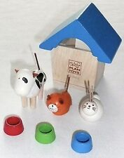 PLAN TOYS PETS & ACCESSORIES SET Dog Cat Rabbit Kennel 7314 >NEW<