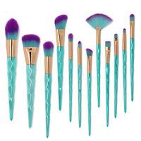 12pcs Unicorn Kabuki Makeup Brush Set Foundation Powder Eyebrow Brushes Tool