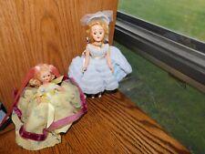 1950's Hard Plastic Small Dolls Nancy Ann Clone + Handmade Dress