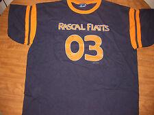 RASCAL FLATTS country T shirt XXL tour 2003 Chris Cagle 2XL ringer w/ stripes OG