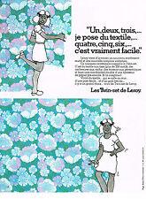 PUBLICITE ADVERTISING  1975   LES TWIN-SET de LEROY  papier peint