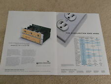 Sonic Frontiers SFL-2 Tube Preamp Ad, 2 page, 1995, Article, Info