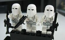 2017 LEGO Star Wars Lot Set of 3 Snow Trooper Army minifigs 7749 8084 Christmas