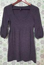 Takeout Large Soft Knitted Gray Sweater Dress