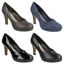 Business Suede Wide (E) Heels for Women