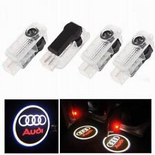 4x New LED Logo Light Shadow Projector Car Door Courtesy Laser Audi A4 A6 A8 Q7