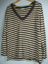 Old Navy Perfect Fit Women's Size 2XL XXL Cotton Long Sleeve Striped Blouse