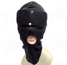 Stretchy Breathable Bondage Open Mouth Head Hood Mask Removeable Blindfold