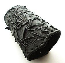 Schwarz Leder Armschiene Stulpe Manschette Armband Steampunk Nachbildung