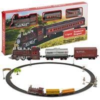 Light & Sound Model Train Tracks Set Kids Birthday Gift Toy Xmas Tree Decoration