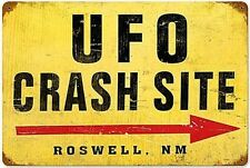 UFO Crash Site rusted steel sign (pst 1812)